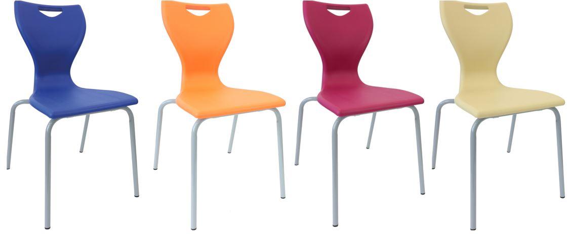 Sedia scolastica ergonomica per ambienti didattici innovativi e aule aumentate dalla tecnologia