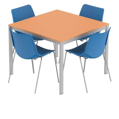 tavolo quadrato multiuso per aule e laboratori scolastici