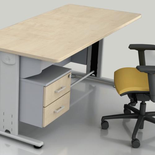 scrivania stuttura metallica