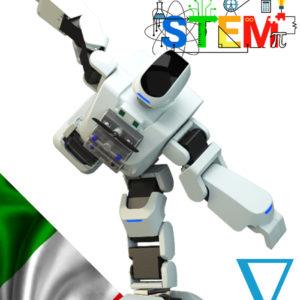 Robot umanoide per laboratori di coding e robotica educativa