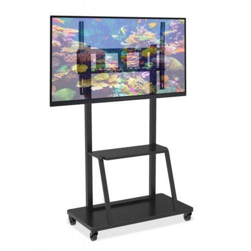 Trolley Supporto-a-Pavimento-con-Mensola-per-TV-LCD-LED-Plasma-55-100-