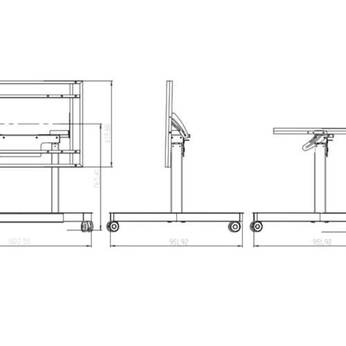 Trolley tilt posizione bassa