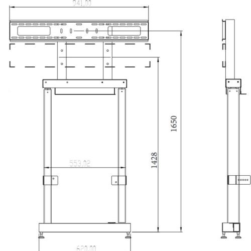 """Sistema di montaggio a parete per display fino a 95"""" regolabile elettricamente"""