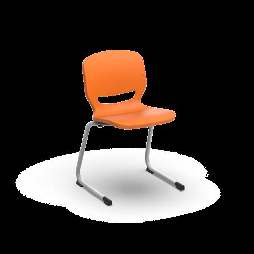 sedia ergonomica centilever arancio